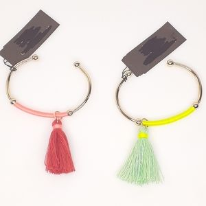 Arden Bracelets NWT Gold & Neon Tassel Orange Grn